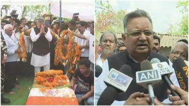 दंतेवाड़ा: पूर्व सीएम रमन सिंह ने दिवंगत विधायक भीमा मंडावी को दी श्रद्धांजलि, नक्सली हमले को बताया राजनीतिक साजिश