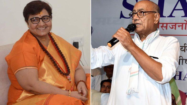 हार के बाद दिग्विजय सिंह का साध्वी प्रज्ञा पर हमला, कहा- देश में महात्मा गांधी के हत्यारे की विचारधारा जीत गई