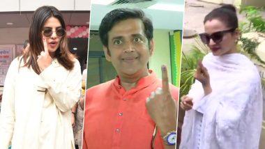 लोकसभा चुनाव 2019: प्रियंका चोपड़ा, भोजपुरी स्टार रवि किशन और रेखा समेत इन सितारों ने किया मतदान