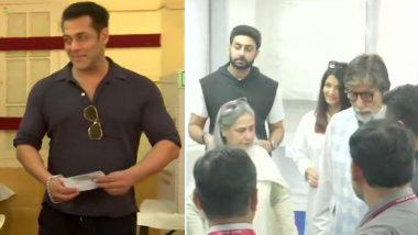 लोकसभा चुनाव 2019: सलमान खान, सचिन तेंदुलकर पहुंचे मतदान केंद्र, बिग बी-ऐश्वर्या राय समेत पूरे बच्चन परिवार ने भी डाला वोट