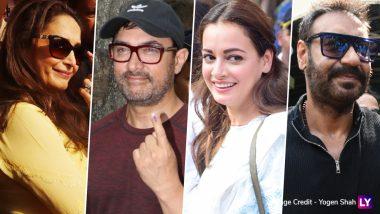 लोकसभा चुनाव 2019: आमिर खान, अजय देवगन, माधुरी दीक्षित समेत इन बड़े सितारों ने डाला वोट