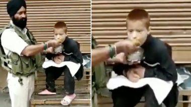जम्मू-कश्मीर: CRPF जवान ने दिखाई दरियादिली, भूख से तड़प रहे लकवाग्रस्त बच्चे को खिलाया अपना खाना, देखें वीडियो