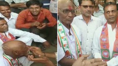मोदी फिर नहीं बनेंगे पीएम कांग्रेस कार्यकर्ता ने हारी शर्त, मुंडवाना पड़ा सिर