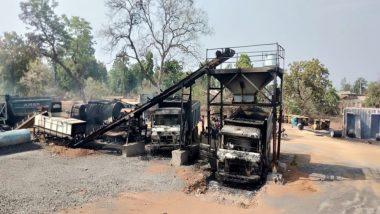 महाराष्ट्र दिवस पर नक्सलियों ने निजी ठेकेदारों के 3 दर्जन वाहन फूंके