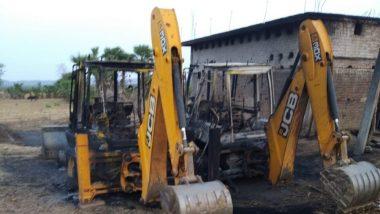 बिहार: नक्सल प्रभावित गया जिले में नक्सलीओं ने मचाया तांडव, सड़क निर्माण में लगी 3 जेसीबी और ट्रैक्टर को किया आग के हवाले