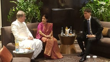 विदेश मंत्री सुषमा स्वराज और पाकिस्तानी समकक्ष शाह महमूद कुरैशी ने SCO बैठक में एक-दूसरे का किया अभिवादन, दोनों के बीच नहीं हुई कोई बैठक