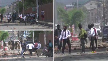 बांदीपोरा रेप केस: अमर सिंह कॉलेज में प्रदर्शन कर रहे छात्रों और सुरक्षाबलों के बीच झड़प, आंसू गैस के गोले दागे