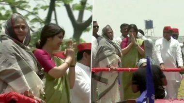 प्रयागराज: जया बच्चन और डिंपल यादव ने मिलकर किया रोड शो, देखें तस्वीरें