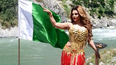 पाकिस्तान के झंडे के साथ राखी सावंत ने शेयर की फोटो, वजह जानकर आप भी रह जाएंगे दंग