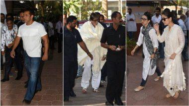 अजय देवगन के पिता वीरू देवगन की शोक सभा में सलमान खान सहित पहुंचे ये बॉलीवुड सितारे, देखें तस्वीरें