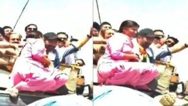 पंजाब में रोड शो के दौरान सनी देओल को महिला ने किया किस, वीडियो वायरल
