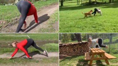 घोड़े की तरह तेज दौड़ती और कूदती है नॉर्वे की यह महिला, अपने हैरतअंगेज कारनामों से मचाया इंटरनेट पर तहलका, देखें वायरल वीडियो