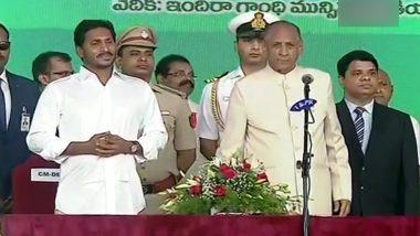 जगनमोहन रेड्डी ने ली आंध्र प्रदेश के मुख्यमंत्री पद की शपथ, ताजपोशी समारोह में शामिल हुए KCR और स्टालिन