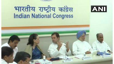 CWC Meeting: राहुल गांधी के इस्तीफे की पेशकश को कांग्रेस ने किया खारिज, खबरों को बताया गलत