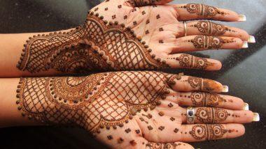 Dhanteras 2020 Mehndi Design: धनतेरस पर अपने हाथों की खूबसूरती को बढ़ाने के लिए ट्राई करें मेहंदी के ये आकर्षक डिजाइन्स (Watch Videos)