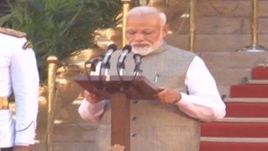 Modi Cabinet 2.0: प्रधानमंत्री नरेंद्र मोदी सहित 57 मंत्रियों ने ली शपथ
