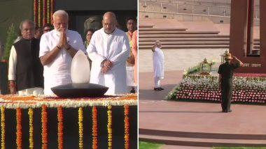शपथ से पहले नमन: पीएम मोदी ने बापू , अटल की समाधी और वॉर मेमोरियल में शहीदों को दी श्रद्धांजलि