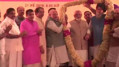 अमित शाह के रात्रिभोज में नीतीश और उद्धव समेत एनडीए के कई नेता शामिल, प्रधानमंत्री मोदी भी रहे मौजूद