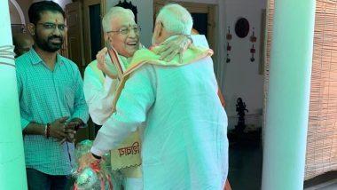 मुरली मनोहर जोशी ने पीएम मोदी का गर्मजोशी से किया स्वागत, कहा- बीजेपी में बुजुर्गों का होता है सम्मान