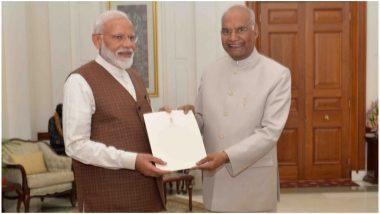 राष्ट्रपति रामनाथ कोविंद ने नरेंद्र मोदी को नवनिर्वाचित प्रधानमंत्री का पत्र सौंपा, 30 मई को हो सकता है शपथ ग्रहण समारोह