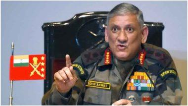 आर्टिकल 370 हटने के बाद आज पहली बार कश्मीर जाएंगे आर्मी चीफ बिपिन रावत, सुरक्षा का लेंगे जायजा