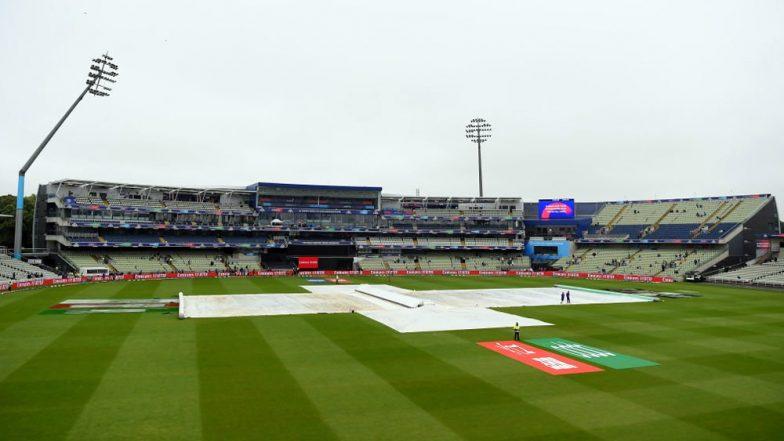 NZ vs PAK, ICC Cricket World Cup 2019: न्यूजीलैंड बनाम पाकिस्तान मैच के टॉस में होगी देरी, बारिश की वजह से आउट फील्ड गीली