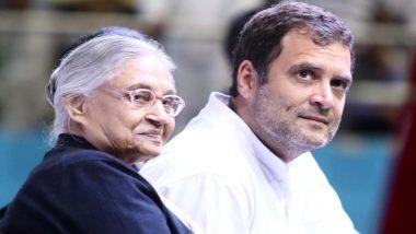 दिल्ली कांग्रेस प्रमुख शीला दीक्षित ने राहुल गांधी के साथ लोकसभा चुनावों में हार पर की चर्चा