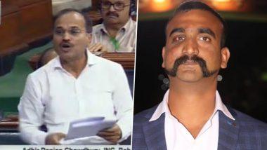 लोकसभा में कांग्रेस नेता अधीर रंजन का बयान- विंग कमांडर अभिनंदन की मूछें घोषित हों 'राष्ट्रीय मूंछ'