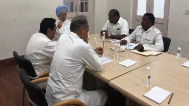 पूर्व प्रधानमंत्री मनमोहन सिंह ने कांग्रेस के मुख्यंमत्रियों से की मुलाकात, अहम मुद्दों पर चर्चा