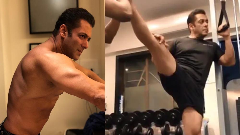 सलमान खान शरीर को लचीला बनाने के लिए कर रहे हैं कसरत, देखें वीडियो