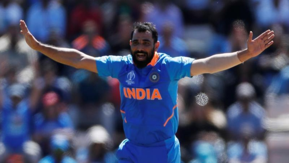 IND vs WI, ICC Cricket World Cup 2019: क्रिस गेल और शाई होप को मोहम्मद शमी ने वापस भेजा पवेलियन, यूजर्स बोलें- आउट ऑफ सिलेबस सवाल आ गया