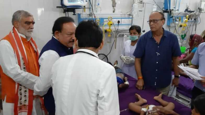 बिहार में चमकी बुखार का कहर: अब तक 93 बच्चों की मौत, स्वास्थ्य मंत्री डॉ हर्षवर्धन के सामने बच्ची ने तोड़ा दम
