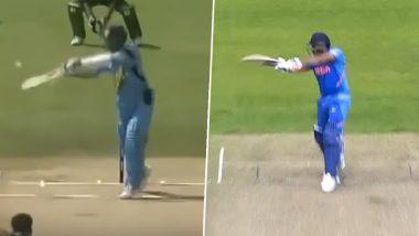 India vs Pakistan, ICC CWC 2019: रोहित शर्मा के सिक्सर ने यूजर्स को दिलाई सचिन तेंदुलकर के शॉट की याद, शोएब अख्तर को जड़ा था छक्का, देखें वीडियो