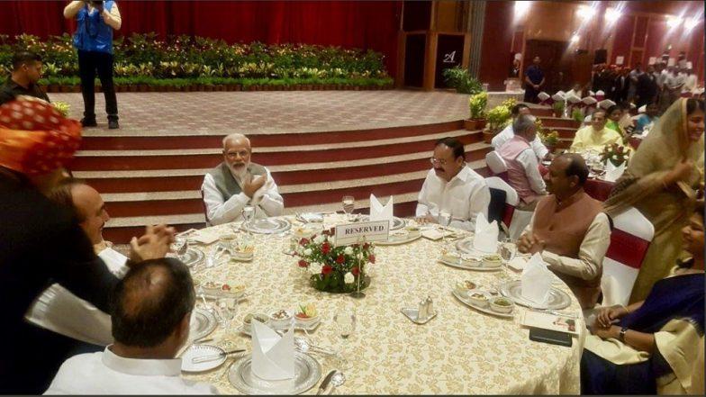 पीएम मोदी ने लोकसभा-राज्यसभा सांसदों को दिया डिनर, सोनिया, राहुल और अखिलेश यादव नहीं हुए शामिल
