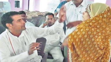 राजस्थान: पंचायत में महिला को अपशब्द बोलना पड़ा भारी, सदस्य हंसा वर्मा ने राकेश कस्वां को जड़ा थप्पड़, वीडियो वायरल