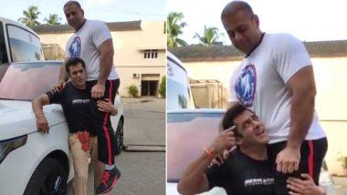 सलमान खान ने इतने वजनदार शख्स को उठाया कंधे पर,Video में दिखा हैरतंगेज कारनामा