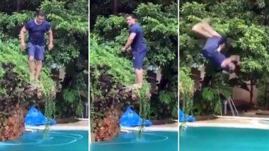 सलमान खान ने स्विमिंग पूल में किया ऐसा स्टंट, इंटरनेट पर धूम मचा रहा है ये वीडियो