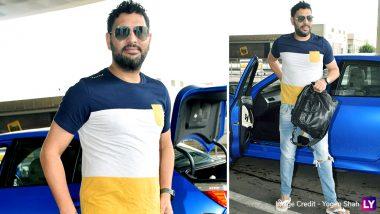 रिटायरमेंट लेने के बाद पहली बार नजर आए युवराज सिंह, मुंबई एयरपोर्ट पर हुए स्पॉट, देखें तस्वीरें