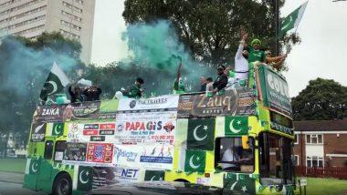 NZ vs PAK, CWC 2019: पाकिस्तान क्रिकेट टीम की हौसला अफजाई के लिए ओपन बस में देश का झंडा लहराते हुए एजबेस्टन पहुंचे फैंस, दिल जीत लेगा यह वीडियो