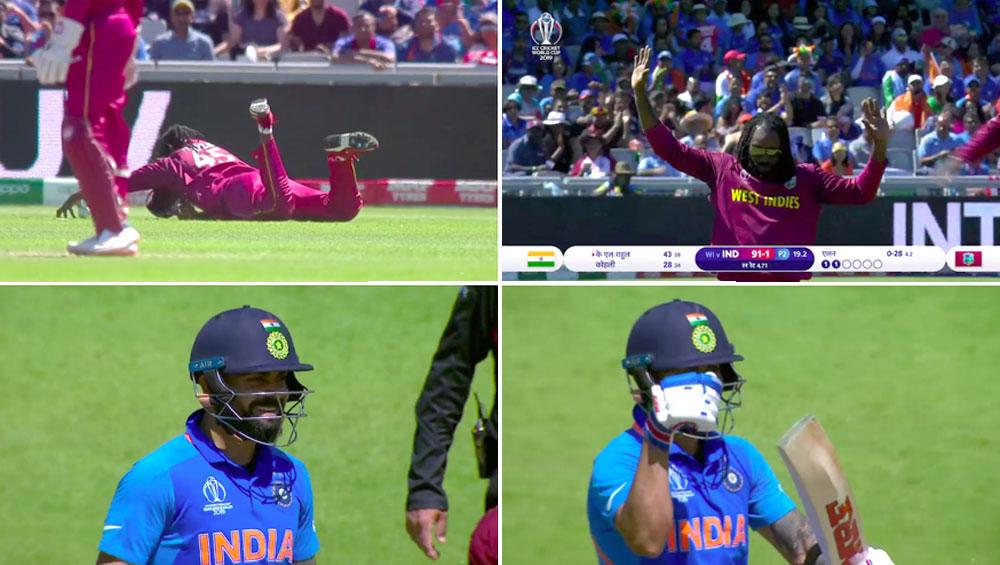 IND vs WI, ICC Cricket World Cup 2019: क्रिस गेल की शानदार फील्डिंग ने विराट कोहली को किया इम्प्रेस, सोशल मीडिया पर भी जमकर हुई तारीफ, देखें वीडियो