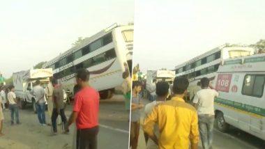 झारखंड: हजारीबाग में नेशनल हाईवे पर बस का ब्रेक फेल होने से भीषण हादसा, 11 की मौत और 25 घायल