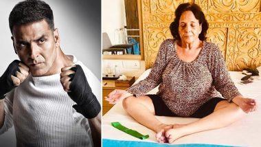 अक्षय कुमार की मां ने 75 साल की उम्र में शुरू किया योगासन, खिलाड़ी ने फोटो शेयर करके कही ये बात
