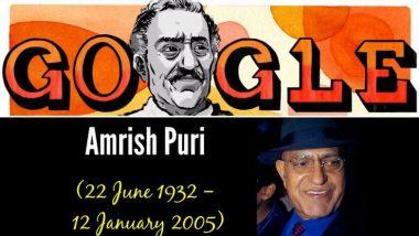 अमरीश पुरी की 87वीं जयंती: बॉलीवुड के इस मशहूर विलन को Google ने ये स्पेशल Doodle बनाकर किया याद