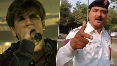 रणवीर सिंह के अंदाज में हेड कॉन्स्टेबल ने किया रैप, लोगों को दिया सुरक्षा का संदेश, देखें वीडियो