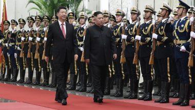 नेता किम जोंग-उन के साथ बैठक के लिए उत्तर कोरिया पहुंचे शी चीन के राष्ट्रपति शी जिनपिंग
