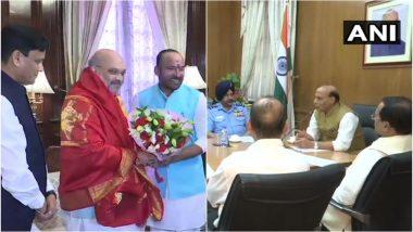 अमित शाह ने संभाला गृह मंत्री का कार्यभार, राजनाथ सिंह ने लिया रक्षा मंत्रालय का चार्ज