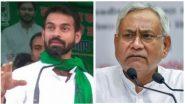 """Bihar Assembly Election 2020: तेज प्रताप यादव का नीतीश कुमार पर बड़ा हमला, कहा-कुशासन ने बिहार में """"पोर्टेबल विकास"""", सड़क को मुट्ठी में दबाइए, घर तक लेकर जाईये"""