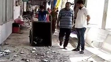 बिहार: मुजफ्फरपुर SKMCH के ICU वार्ड की छत का हिस्सा टूटा, बाल-बाल बचे लोग