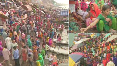 Ganga Dussehra 2019: हजारों की संख्या में श्रद्धालुओं ने गंगा के घाटों पर लगाई आस्था की डुबकी