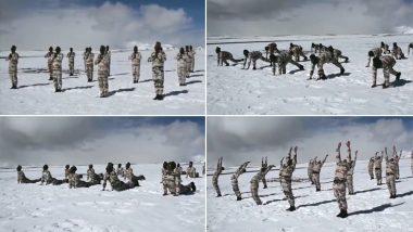 Yoga Day 2019: दुनिया भर में उत्साह- ठिठुरती ठंड में ITBP के जवानों ने 18000 फीट की उंचाई पर किया योग- देखें VIDEO